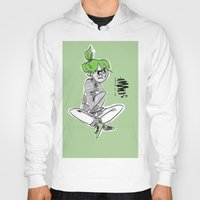 bianca green Hoodies featuring green by Art of Bianca