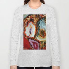 Agate, the Layers of our Earth Long Sleeve T-shirt