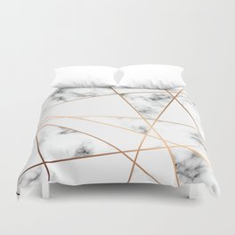 Marble Geometry 054 Duvet Cover