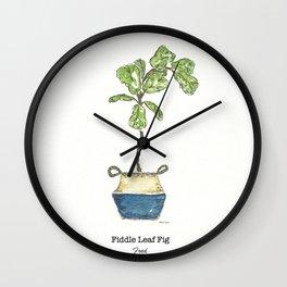 Fiddle Leaf Fig Wall Clock