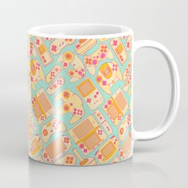 Video Game Controllers in Retro Colors Coffee Mug