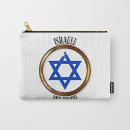 Israel And Proud Button Carry-All Pouch