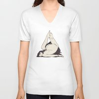 triangle V-neck T-shirts featuring My Simple Figures: The Triangle by Anton Marrast