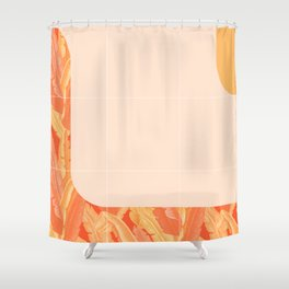 Mid-Century Tropical Orange Style #society6 #tropical Shower Curtain