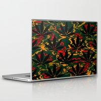rasta Laptop & iPad Skins featuring Rasta Leaves... by Cherie DeBevoise