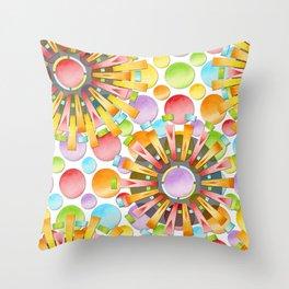 Birthday Party Polka Dots Throw Pillow