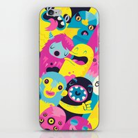 monsters iPhone & iPod Skins featuring Monsters by Lienke Raben