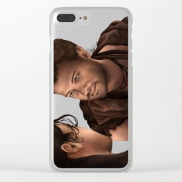 Nagron First Kiss (Agron, Spartacus) Color Version Clear iPhone Case