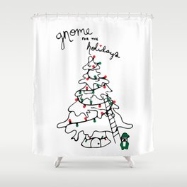 Gnome for the Holidays Shower Curtain