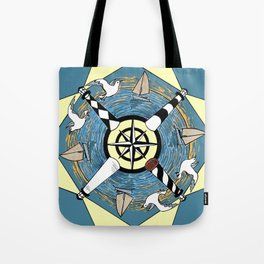 OBX Lighthouse Mandala Tote Bag