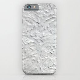 White cement wall, white background, paint, decor, home decor iPhone Case