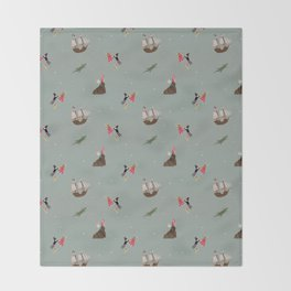 Neverland Pattern Throw Blanket