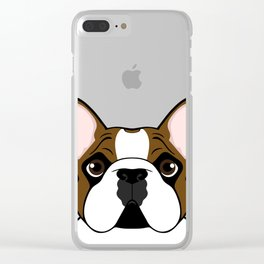 Frenchie - Fawn Pied Clear iPhone Case