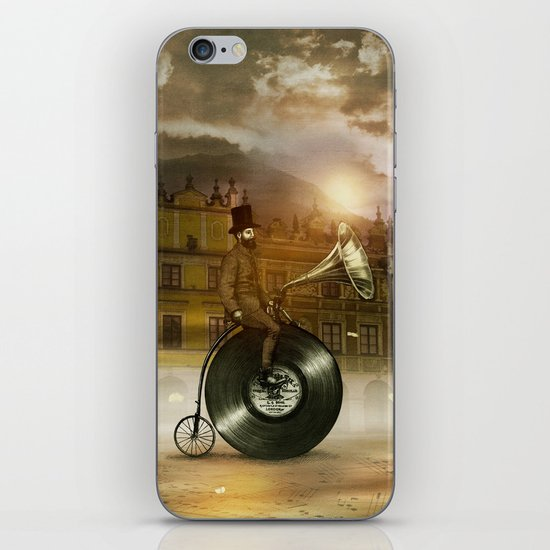 Music Man in the City, by Eric Fan and Viviana González iPhone & iPod Skin