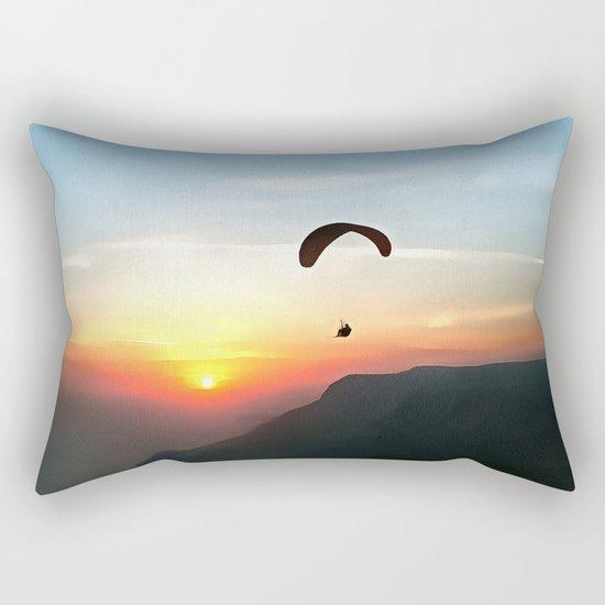 Sunset Paraglide Rectangular Pillow