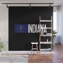 Indiana: Hoosier Flag & Indiana Wall Mural