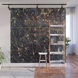Splatter Painting Abstract, Blue, Purple, Pollack, Jodilynpaintings, Splatter Wall Mural