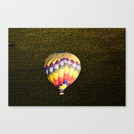 Balloon and Napa Vineyards Canvas Print