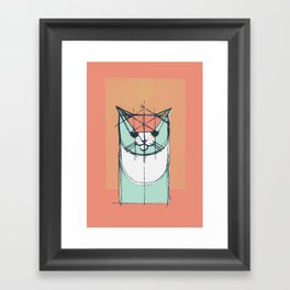 Cubist Cat Study #8 by Friztin Framed Art Print