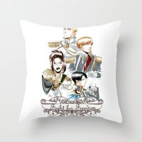 shingeki no kyojin Throw Pillows featuring OriSor Shingeki No Kyojin Royal Fanart  Attack on Titan by Mistiqarts by Mistiqarts