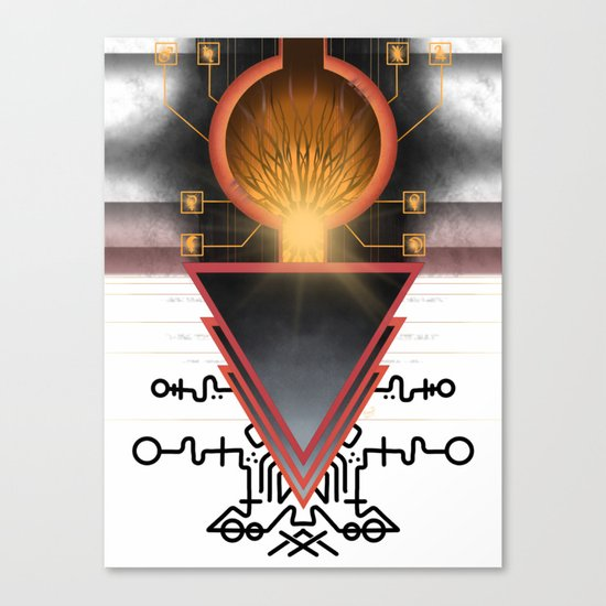 Cerebral Gateway of the Three Canvas Print