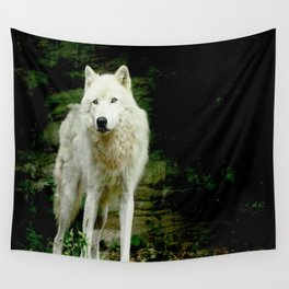Grey Wolf Wall Tapestry