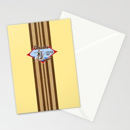 Tandem Surfing Hawaiian Surfboard and Pareau Designs Stationery Cards