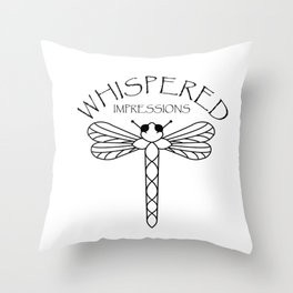 Whispered Impressions Throw Pillow