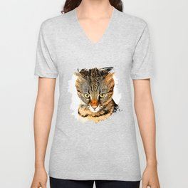 savannah cat portrait vastd Unisex V-Neck