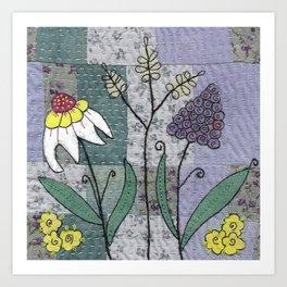 Woodland Flowers 2 Art Print