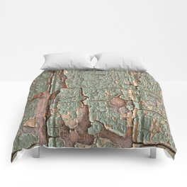 Cracked Wood Paint Comforters