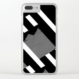 Thick Shadowed Lines Clear iPhone Case