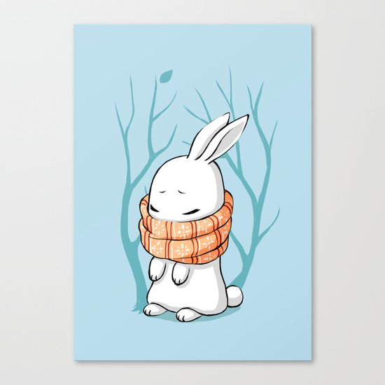 Winter Bunny Canvas Print