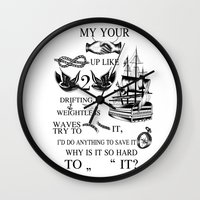 strong Wall Clocks featuring Strong by wreckthisjessy
