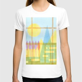From the inside out -watercolor landscape T-shirt