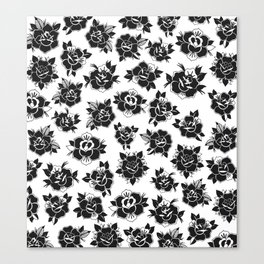 Traditional Roses Pattern Canvas Print