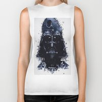 darth vader Biker Tanks featuring Darth Vader by qualitypunk