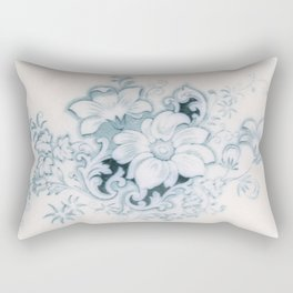 Vintage Flower Flow Rectangular Pillow