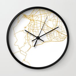 CAPE TOWN SOUTH AFRICA CITY STREET MAP ART Wall Clock