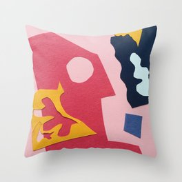 Paper Cut Outs Throw Pillow