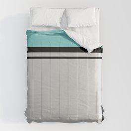 Cross Lines in turquoises Comforters