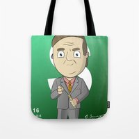 better call saul Tote Bags featuring Better Call Saul! by Brandon Juarez