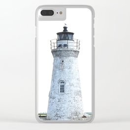 Lighthouse Illustration Clear iPhone Case