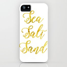 Sea Salt and Sand in Gold iPhone Case