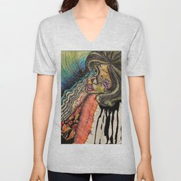 MUSIC LIFELINE Unisex V-Neck