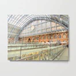 St Pancras Station London Metal Print