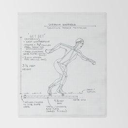 Get Set Drawing, Transitions through Triathlon Throw Blanket