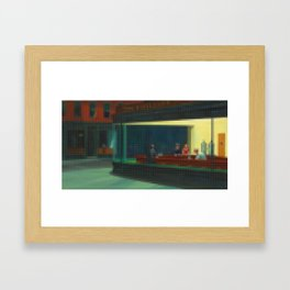 Lego: Nighthawks Framed Art Print