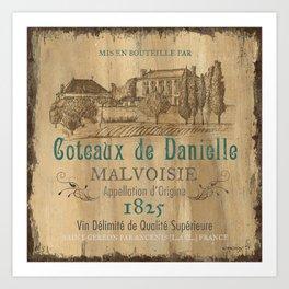 Barrel Wine Label 2 Art Print
