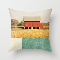 american beauty Throw Pillows featuring Heartland by Farmhouse Chic